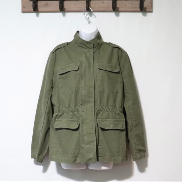 Kensie Jeans army green 4 pocket utility jacket L